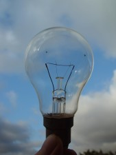 clear, light, bulb
