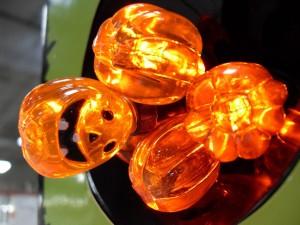 led, pumpkin, lights, store, display
