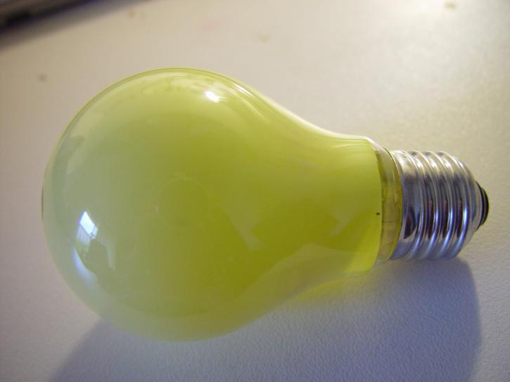 yellow, insect, repellant, light, globe, screw, fitting