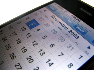 iphone, calendar, screen