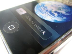 iphone, maison, écran