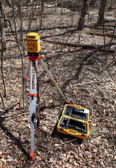 laser, niveau, dispositif, la cartographie, l'habitat, fonction, profils