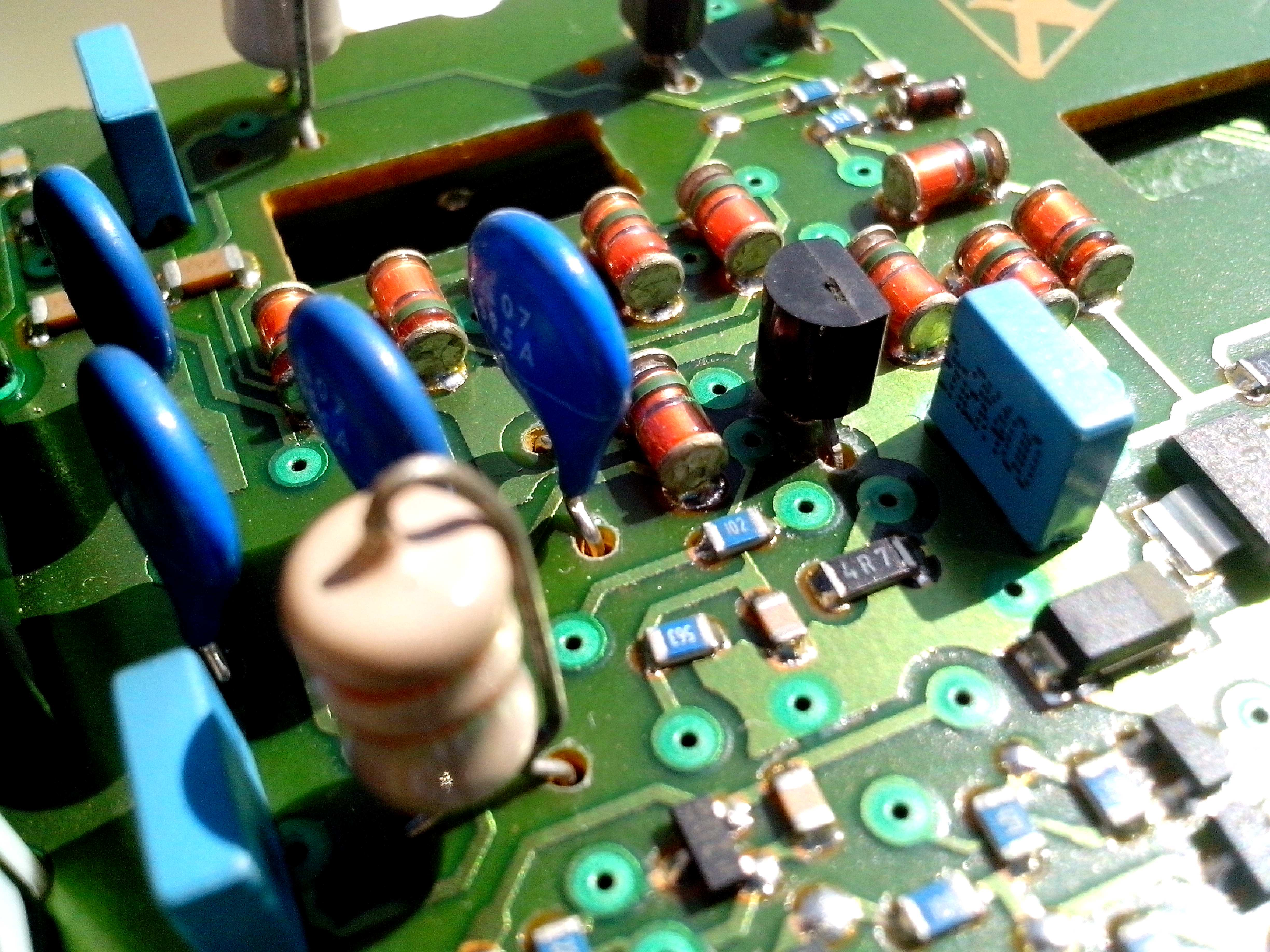 Free photograph; motherboard, conductors, chips, transformers