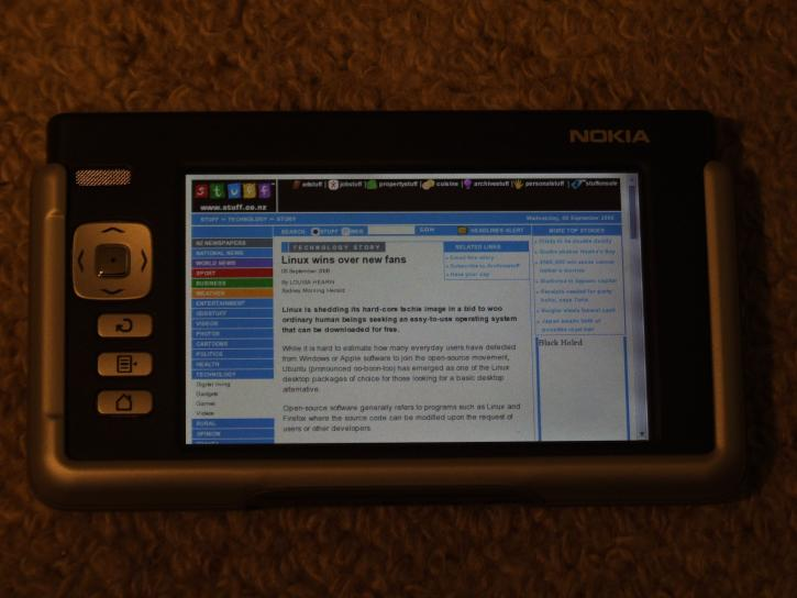 nokia, linux, article, screen