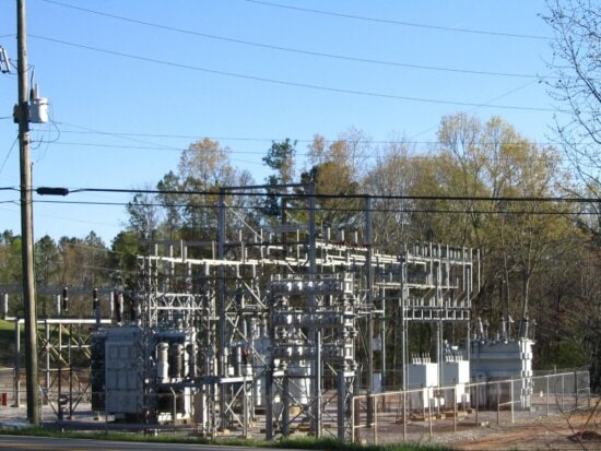 outdoor, power, substation