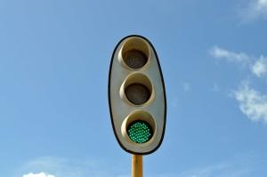 Rail, verkeer, licht groen, licht