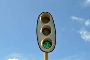 kolei, traffic, lekki zielony, lekki