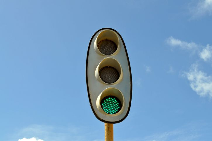 jernbane, trafikk, lys grønn, lys