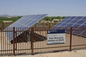 solární, panely, nainstalované