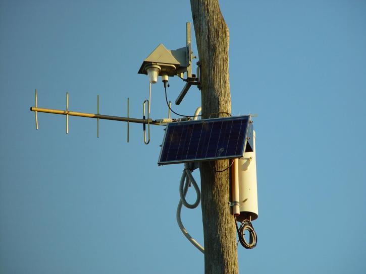 solaire, actionné, la surveillance, la station