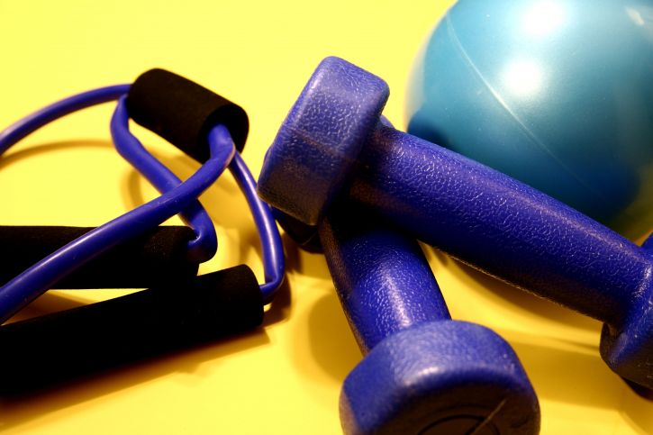 exercise, equipment, turquoise, rubber, ball