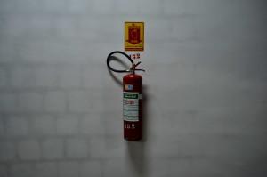 extintor, mur