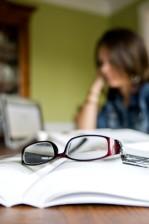 eyeglasses, top, book