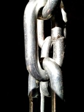 galvanized, metal, chain