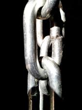 galvanisert, metal, kjede