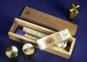 verre, microscope, toboggan, spécimens