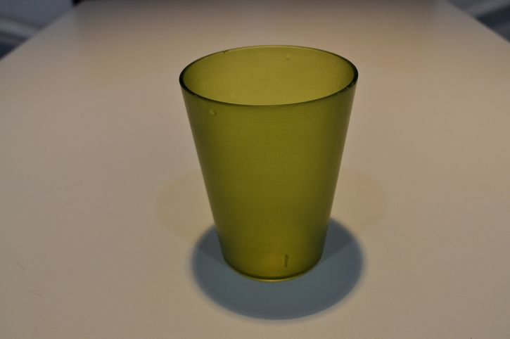 close, green, empty, glass