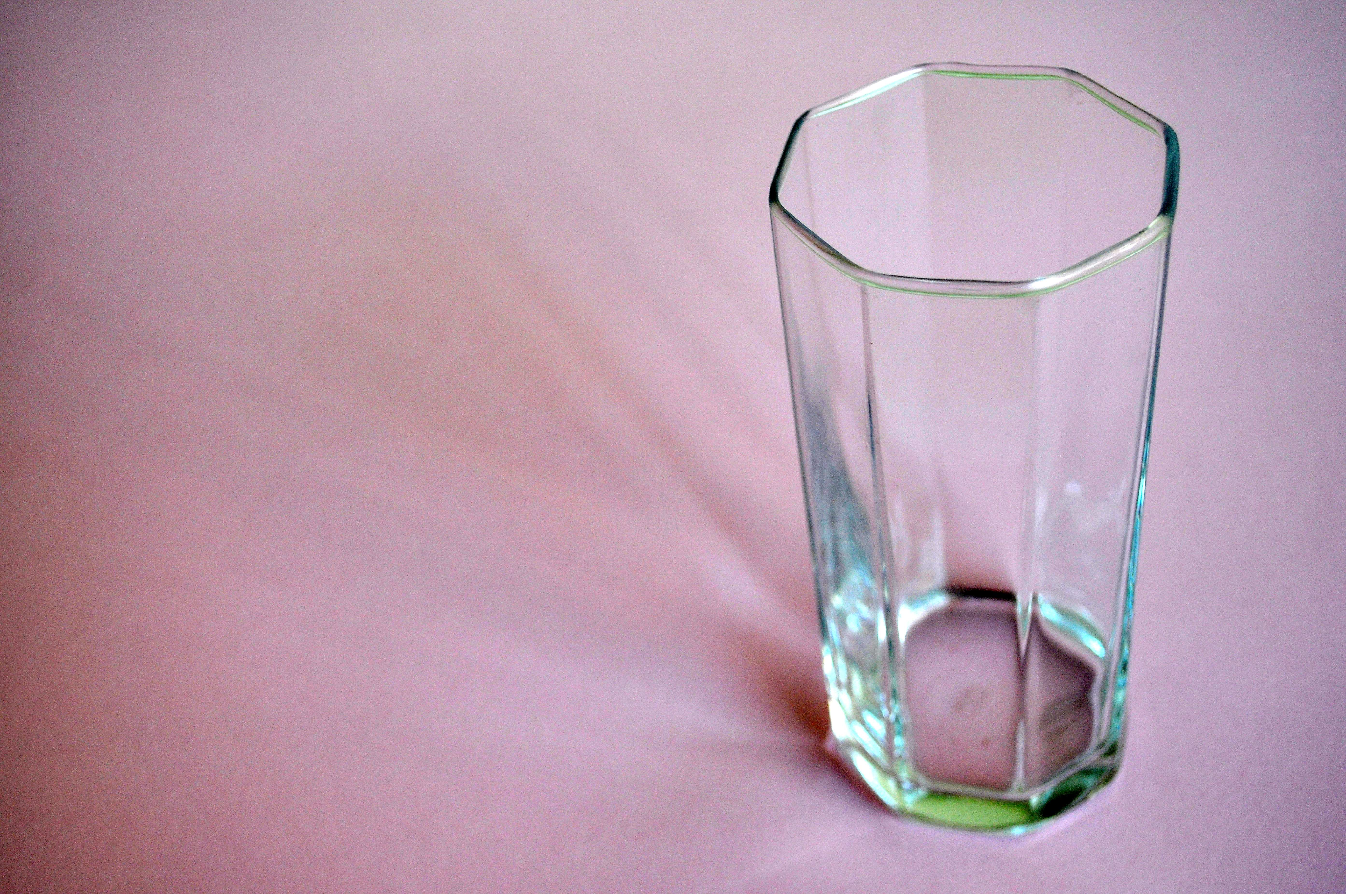 Free photograph; empty, glass, water