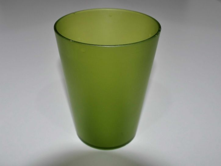 green, glass, cup