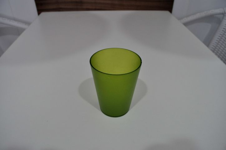 green, glass, cup, white, table
