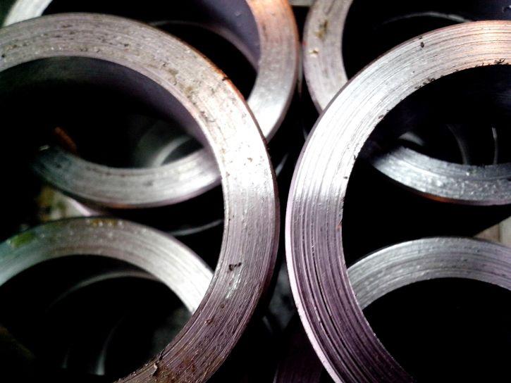 grated, metal, parts, machine, lathe
