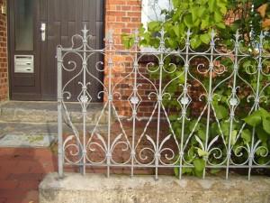 iron, fence