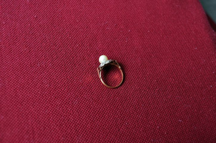 ring, jewelry, red, background