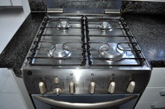 kitchen, gas, stove, close