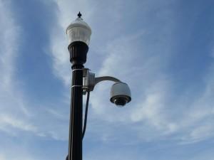 antic, street, lampă, fier, lampa