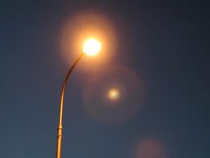 ciudad, luces, luces de la calle, noche