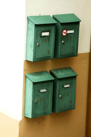 mail, boxes