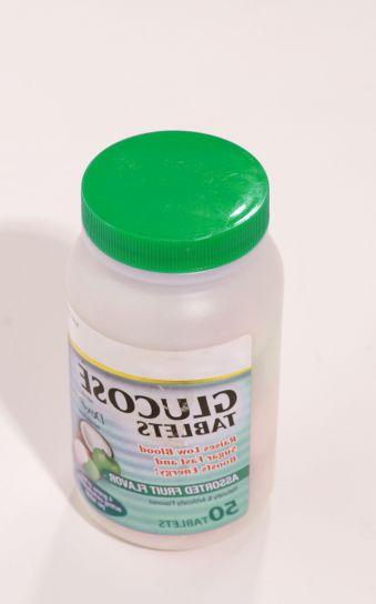 gyógyszeres kezelés, üveg, a szőlőcukor tabletta