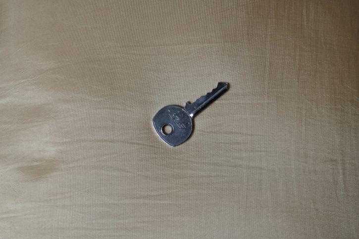 metal, key, locking