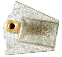 métallique, partie, fonte