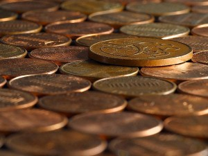 Penny, ein paar Cent, Münzen, Kupfer