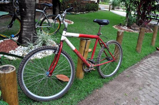 mountain, bike, sidewalk