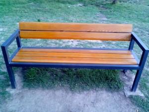 neuen, aus Holz, Bank, Park
