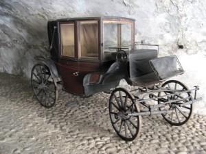 vieux, chariot
