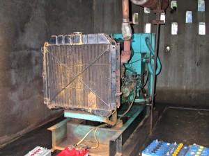 starý, elektrina, generátor