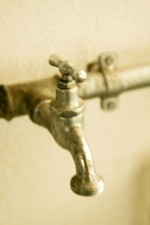 old, tap, metal, water, wall