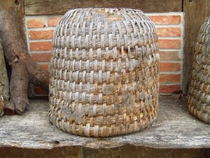 old, wicker, beehive