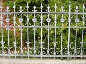 ornate, fence, iron, work