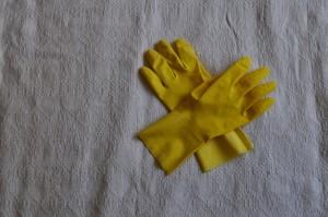Paar, Gummi, Handschuhe