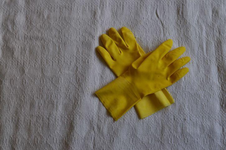 pair, rubber, gloves