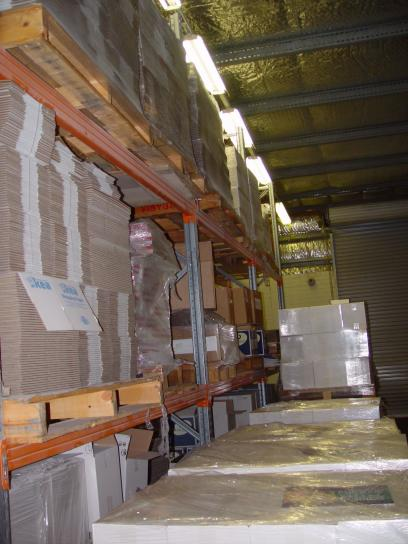 pallets, documents, warehouse