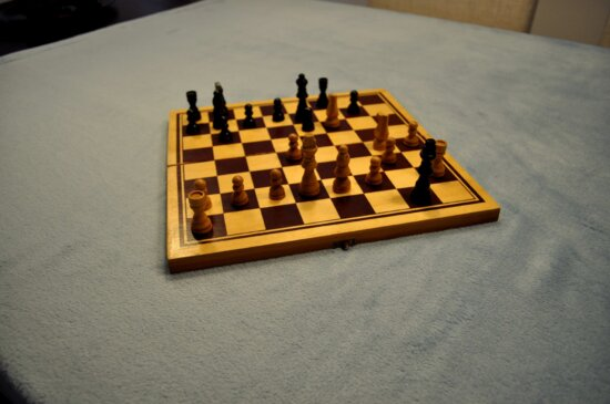 play, chessboard, table