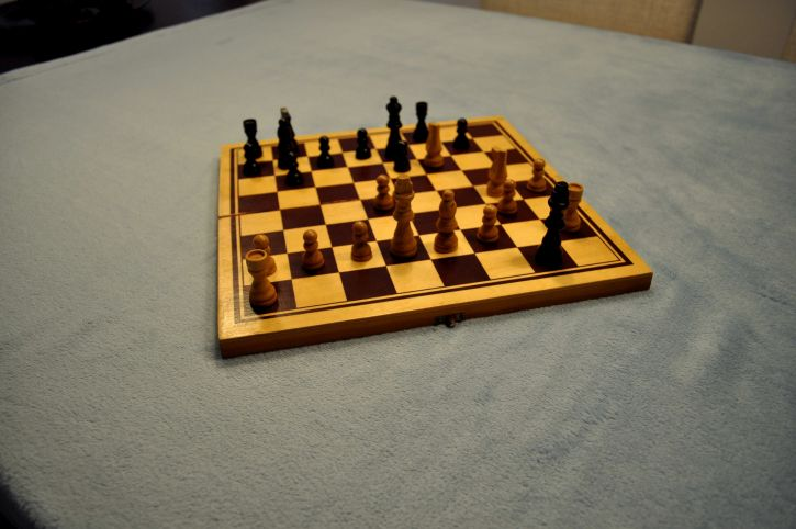 playing, chessboard, table