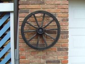 red, brick, wheel