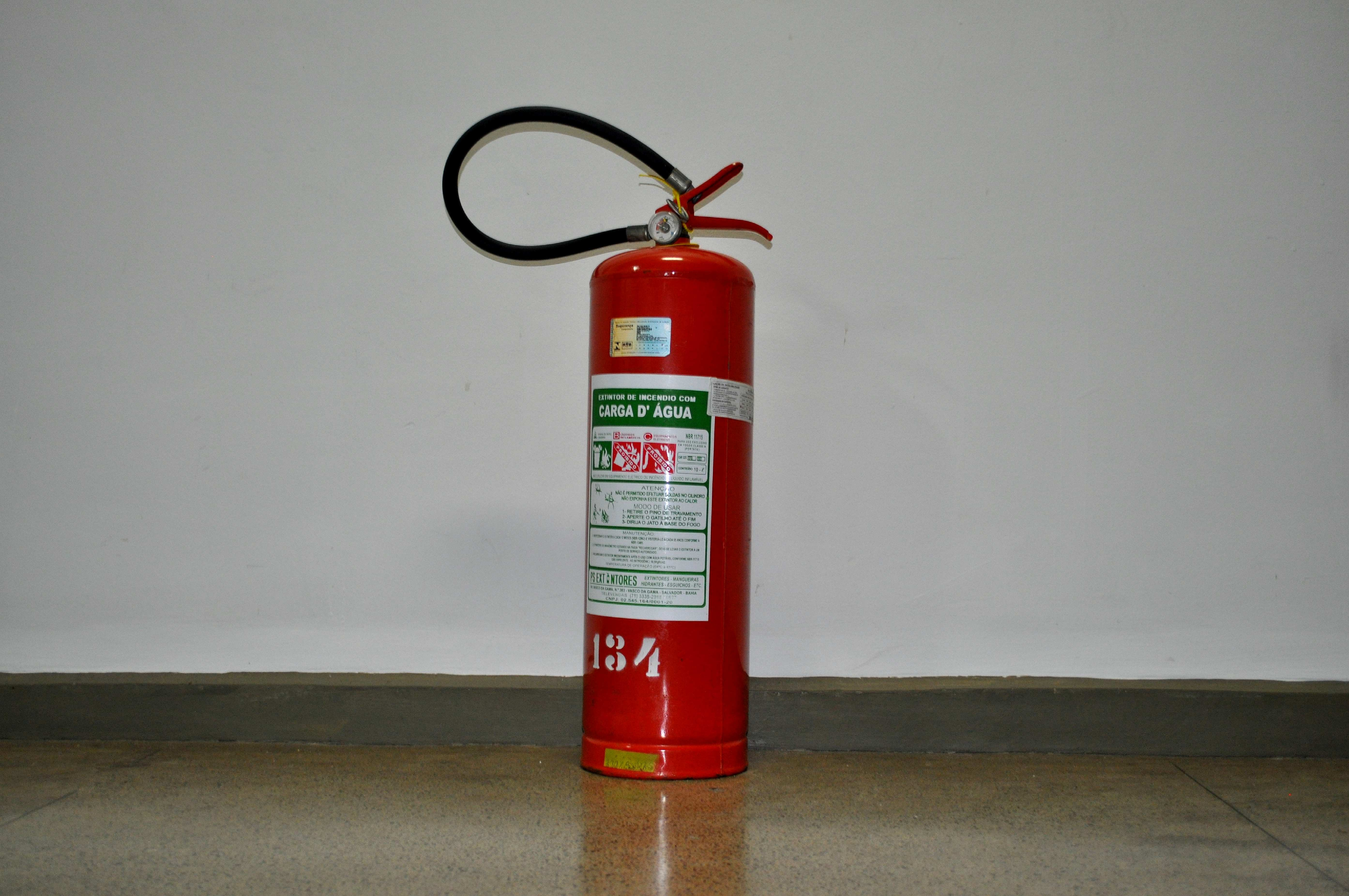 Free photograph; red, fire, extinguisher