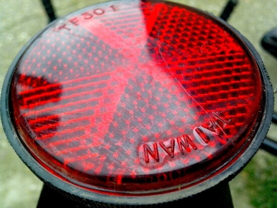 red, reflector, bicycle